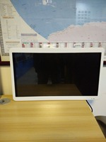 24 inch metal frame wall mount android bus monitor 2 AV input ceiling display with Android4.4 O.S. 3G 4G GPS VGA HDMI USB SD
