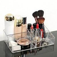Functional Transparent Plastic Nail Polish Lipstick Cosmetic Organizer Crystal Acrylic Dress Makeup Desktop Storage Box
