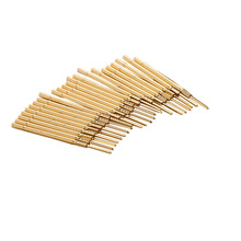 100PCS/Pack R100-3W Test Probe Tapered Brass Tube Spring for Electrical Length 38.3mm Needle Dia 1.67mm Tool