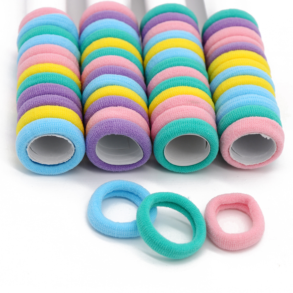#AD0043 50pcs/lot 3cm Hair rubber band accessories cheapest rezinochki wholesale fluorescence candy colors hair elastics