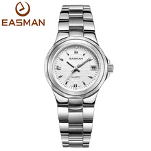 EASMAN Women Watches White Waterproof Date Show Fashion Casual New Lady Dress Quartz Watch For Ladies Women Wrist watches