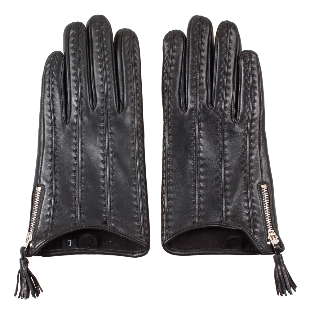 Leather driving gloves bmw - 2016 New Summer Autumn Christmas Gift Women Sex Pole Dancing Time Model Zipper Supple Nappa Leather Driving Gloves Mittens