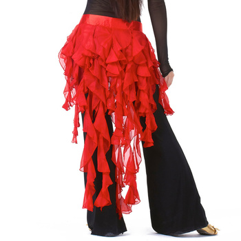 Cheap Dancewear Belly Dancing Clothes Chiffon Skirt for Practice Adjustable Fit Wrapped Belt Women Dance Hip Scarf - discount item  25% OFF Stage & Dance Wear