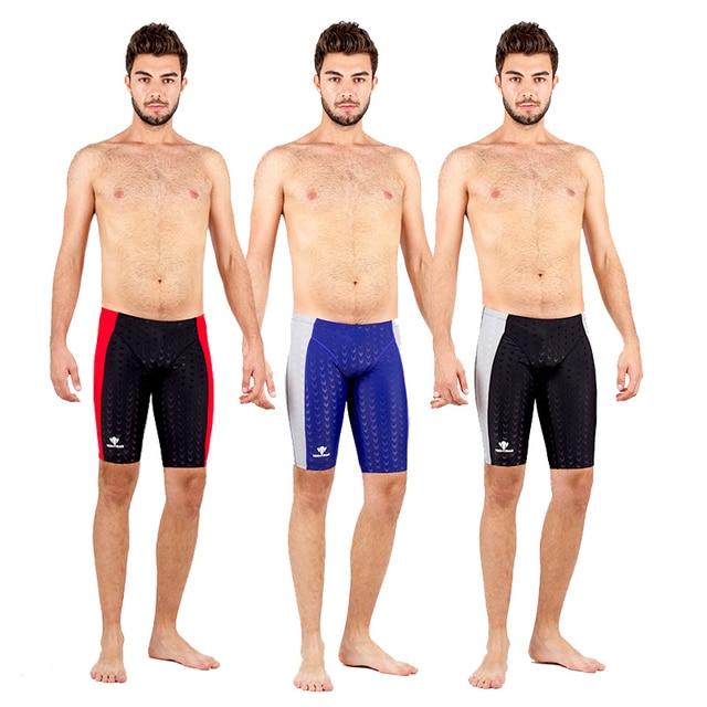 b1ed6c4b78 HXBY Competition Racing Swimwear Men Swimming Trunks Men's Swimming  Sharkskin Swimsuit Men Training Jammer Mens Swim Shorts 5XL