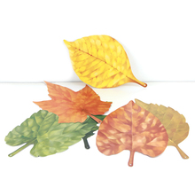 Thanksgiving Decorations 27cm 6pcs Assorted Autumn Falling Leaves Decor Nature-Inspired Party Kids Home