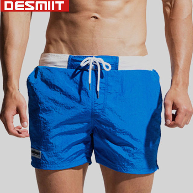 4083134afd DESMIIT Swimwear Mens Swimming Shorts Men Swim Trunks Waterproof Nylon  Light Thin Beach wear Surfing Swimsuit Man badehosen 2018