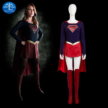 2016 NEW ARRIVAL Womens Supergirl Cosplay Costume Supergir for Girls Halloween Women