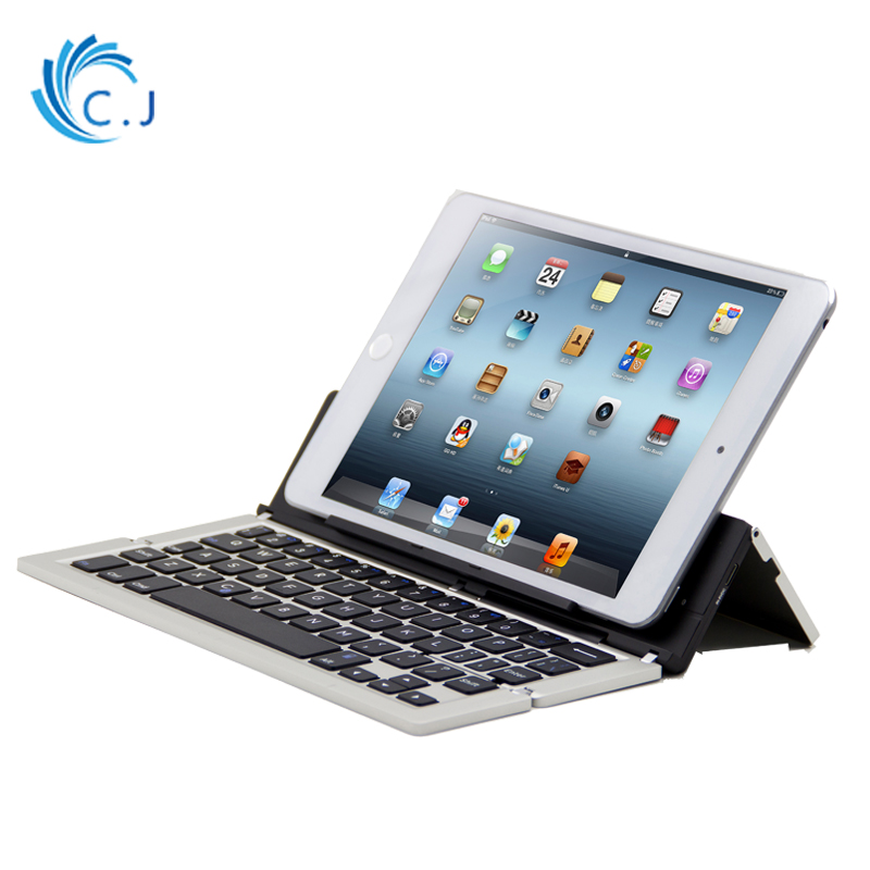 CJ Ultra Thin Wireless Bluetooth Keyboard with folding for Apple ios tablet , iphone,android phone,Tablet,ipad,Microsoft Surface ultra thin foldable bluetooth keyboard cable mini keyboards for apple iphone ipad macbook ios android tablet pc computer