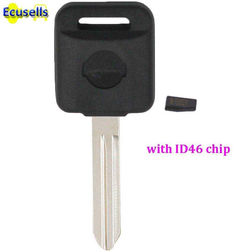Ignition Transponder Car Key Case Shell Fob Case with ID46 Chip for NISSAN 350Z Almera Juke Micra Primera