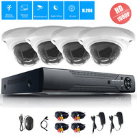 4CH 1080P DVR CCTV System 1TB HDD 2MP Dome AHD IR Night Waterproof Camera Outdoor Security