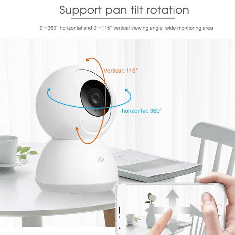 Xiaomi Mijia IMI akıllı kamera kamerası 1080P 720p HD WiFi Pan-tilt gece görüş 360 açı Video kamera bebek güvenlik monitör