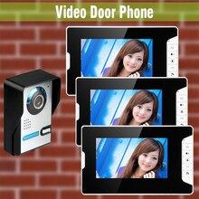 1V3 Home Door wired video intercom doorbell 7 Inch LCD Monitor Video Door Phone Intercom Door bell Camera Video Intercom system
