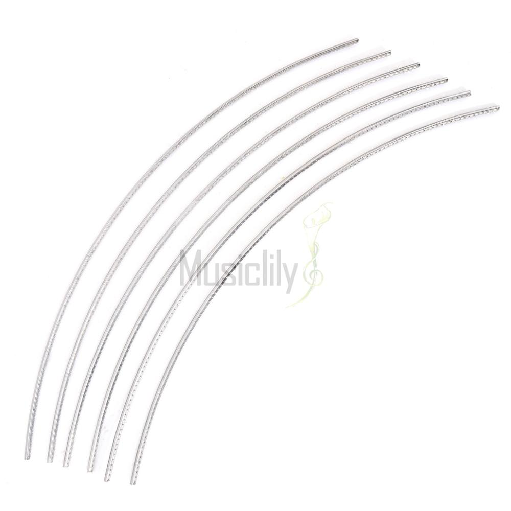 Musiclily Sintoms Premium Stainless Steel Guitar Fret Wire 2.3mm Medium Size Set musiclily 3ply pvc outline pickguard for fenderstrat st guitar custom