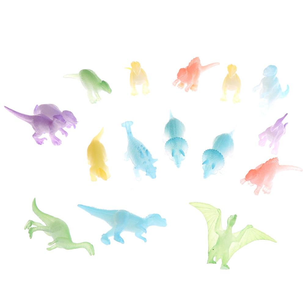 10pcs Night Light Noctilucent Dinosaur Figure Toy Gift Plastic For kids