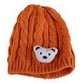 2016 Chapéu Do Inverno Para O Bebê Bonito do Urso de malha Crochet Cap Chapéu do Beanie Da Criança recém-nascidos BoyGirl Coreano Bonito Criança Chapéu Morno LB