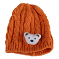 2016 Winter Hat For Baby Lovely Bear knitted Crochet Cap Newborn Toddler BoyGirl Beanie Hat Korean Cute Child  Warm Hat  LB