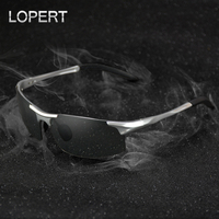 LOPERT NEW Aluminum Magnesium Photochromic Polarized Sunglasses Men Women Driving Sun Glasses Eyewear Accessories For Men