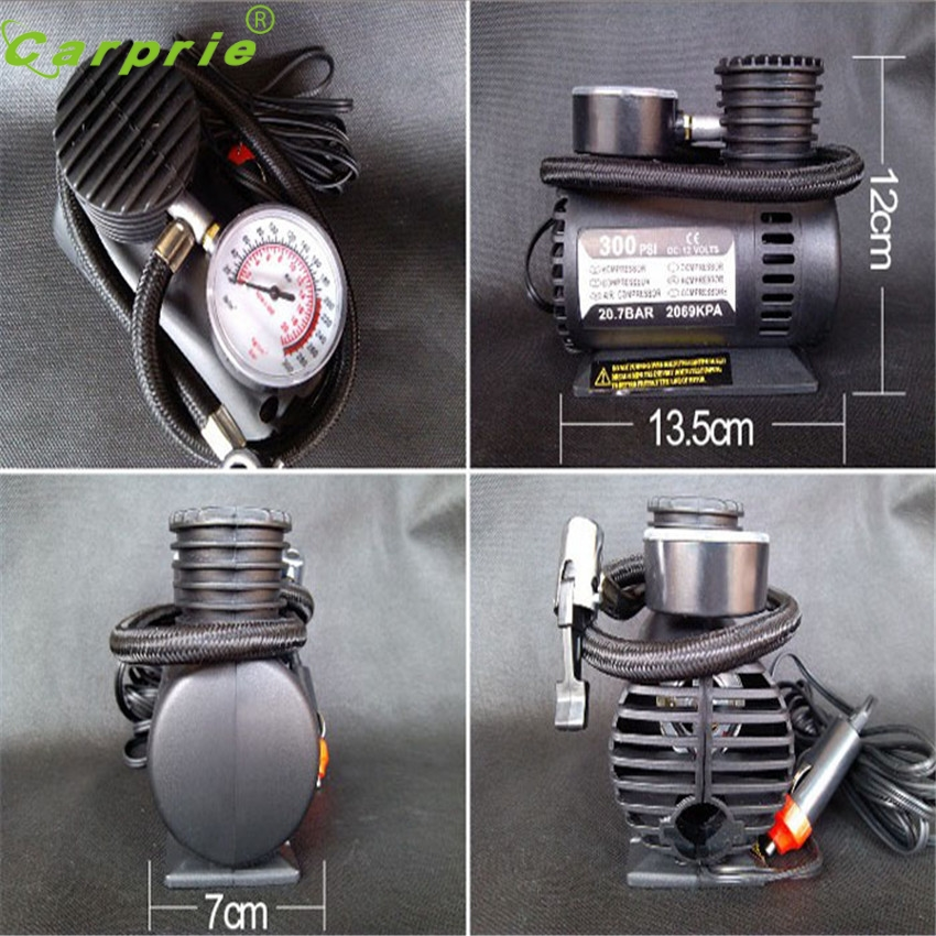 Electric Air Compressor Tire Inflator Pump Portable 12V Auto 300 PSI for Car Motorcycle Dependable Fashion