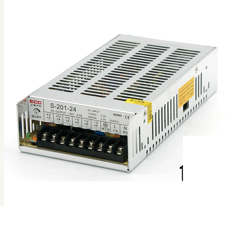 Switching Mode Power Supply S-201W-24V 8.4A Industrial Control Monitor Direct Output AC220V Change DC fsp250 50plb fsp250 50lc standard 1u250w industrial industrial control power