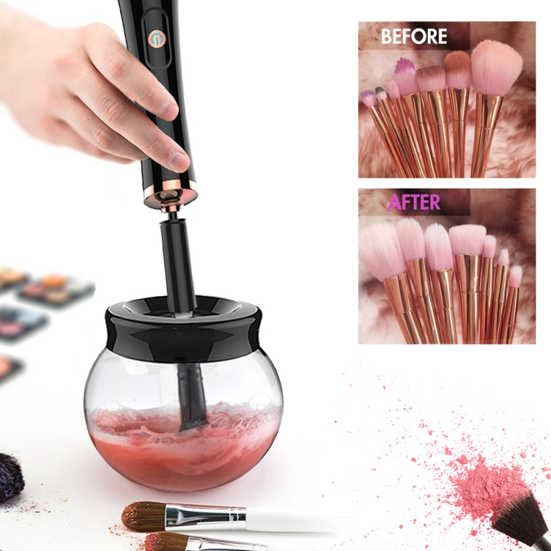 Professional Electric Makeup Brush Cleaner & Dryer Set Make Up Brushes Washing Tool Makeup Brushes Cleaner Drop Shipping hot pink apple shaped makeup brush cleaner