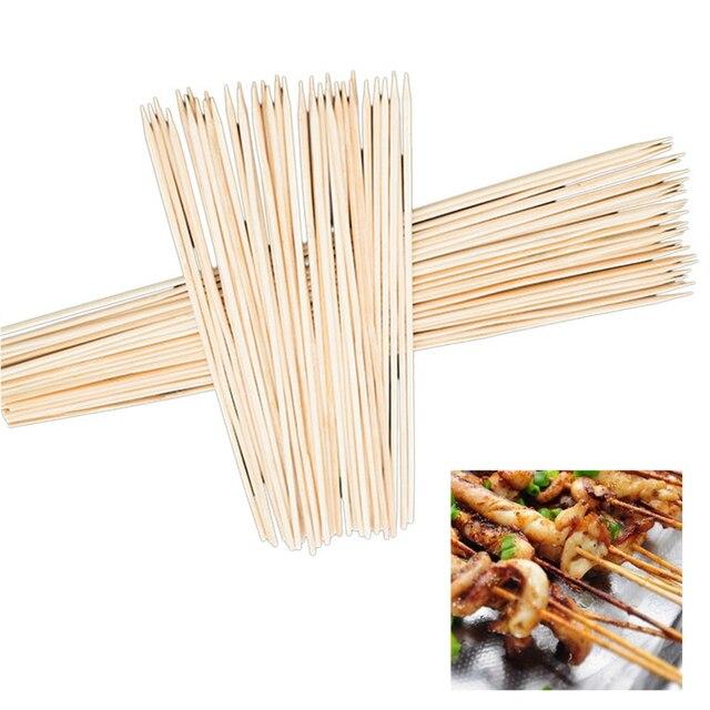 Hoomall 90 Pz Accessori BBQ Spiedini di Bambù Griglia Shish Legno Bastoni Barbec