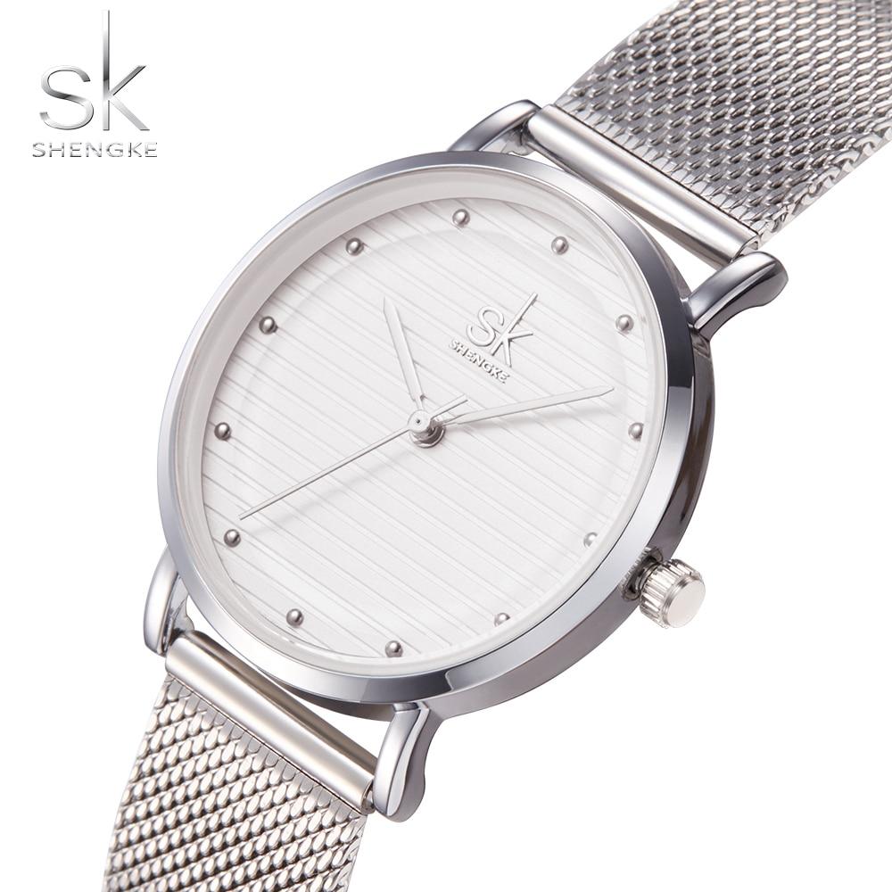 Shengke Brand Quartz Armbåndsure Texture ure Kvinder Casual Kjole - Dameure - Foto 5