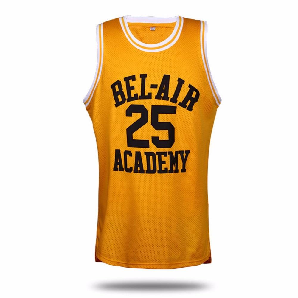 Prix pour VTURE Basket-Ball T-shirts Will Smith #25 Bel Air Academy de Basket-Ball Jersey