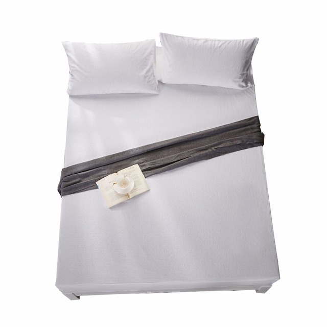 Us 59 9 100 Cotton Weave 800 Thread Count Queen Waterproof Ed Sheet With Elastic All Around Fits Mattress Upto 20cm By White In From Home