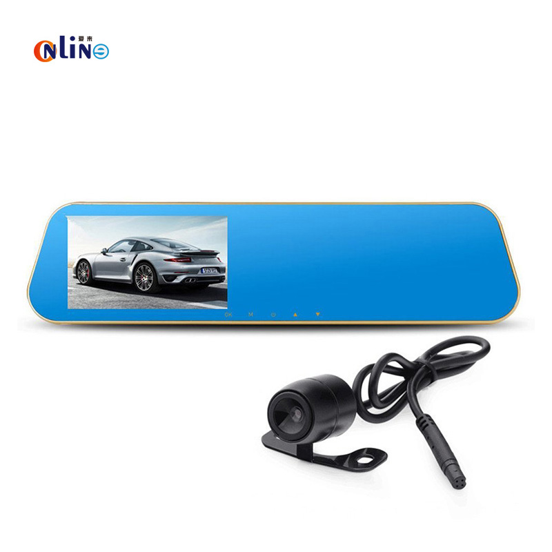 DVR with front and back 4.3'HD rear view monitor ,blue color screen and anti glare,170 degree angle parking assistant кольцо коюз топаз кольцо т142014227