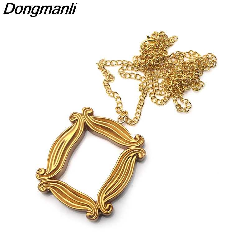 P2916 Dongmanli Fashion Friends TV Show Acrylic Pendant Chain necklace jewelry Photo frame For Good Friends gifts Dropshipping
