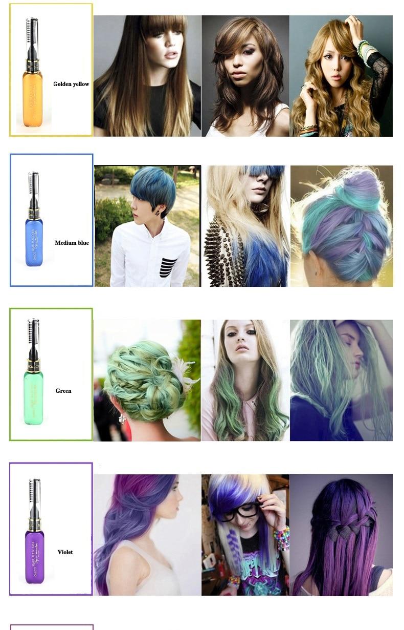 3-dijelna boja za kosu i TOUCH-UP maskara-za-kosu 12 boja netoksična - Njega kose i styling - Foto 3
