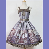 Classic Lolita Jsk Jumper Skirt Steampunk Cat Jsk !New years Dress!Spring, Summer, Fall, Winter!