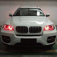 SALE 1 Pair DC12V 2 60W LED Angle Eye Rings Headlight 360 Degree Super Bright White