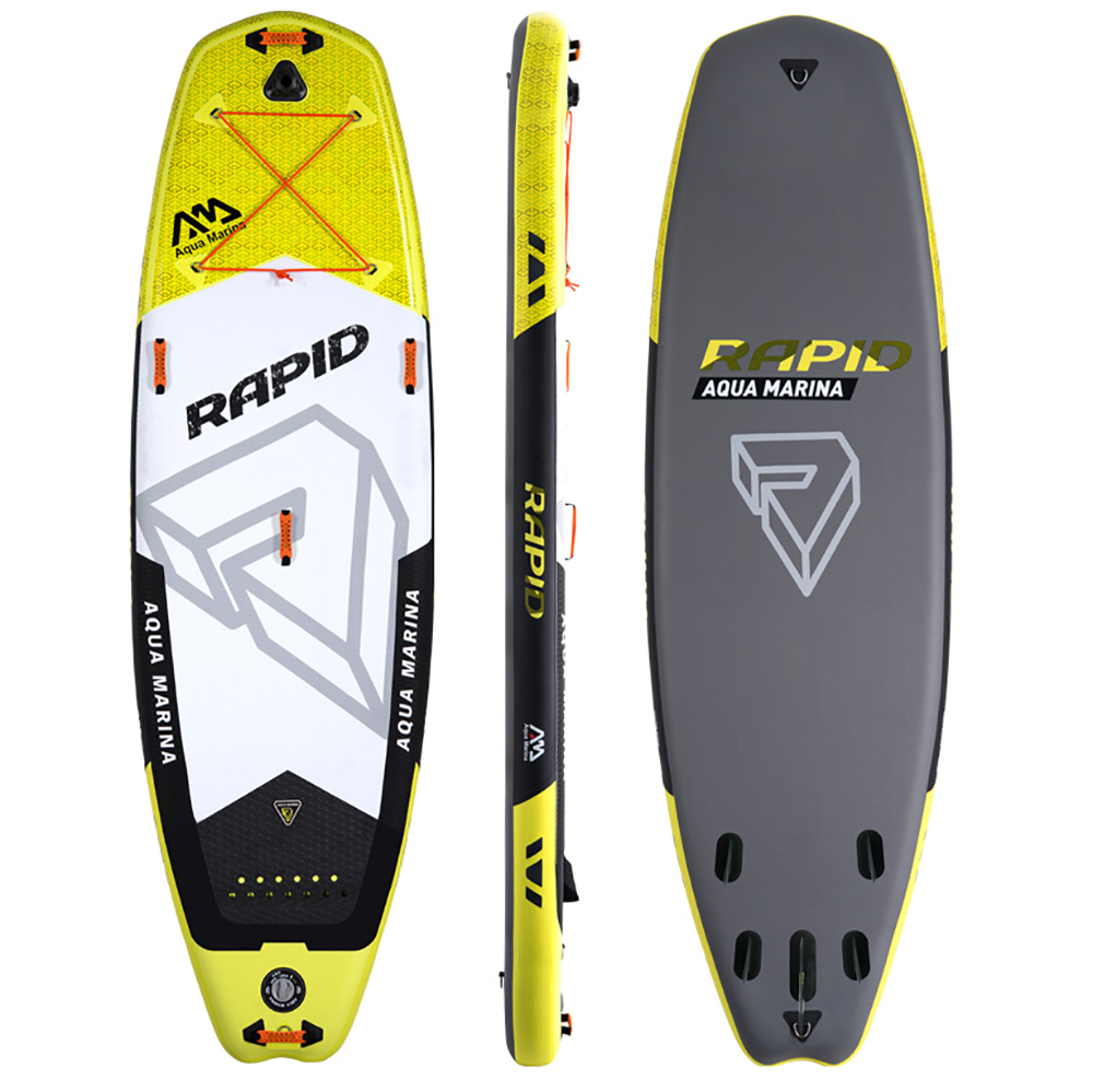 Aqua marina Rapid inflatable SUP Stand up Paddle Board white water paddle board river sup
