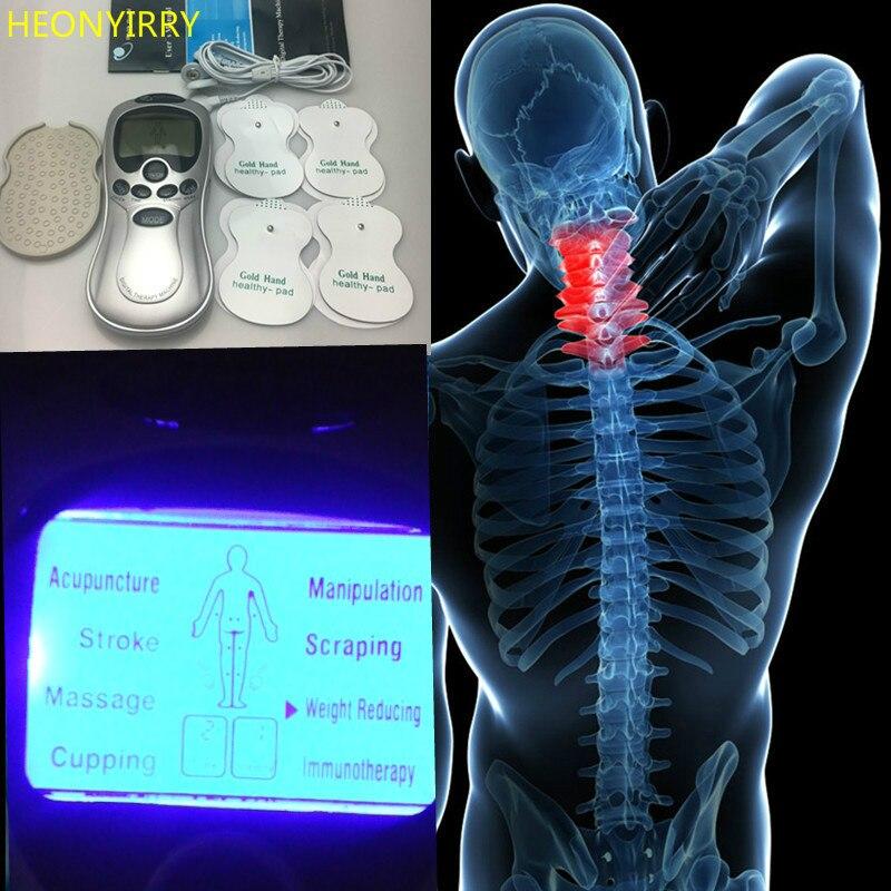 4 elektrode Gesundheit Pflege Zehn Akupunktur Elektrische Therapie Massageador Maschine Puls Körper Abnehmen Bildhauer Massager Gerät