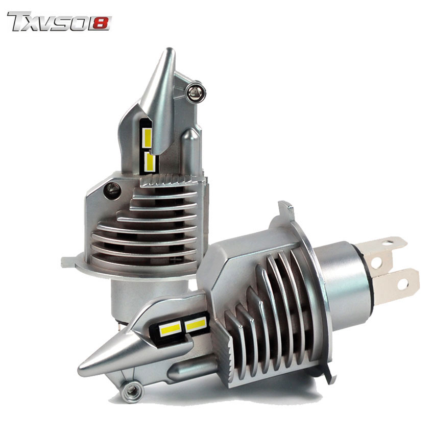 Txvso8 Mini H4 Led Headlight Bulbs Canbus 6000k 10000lm Auto Fog