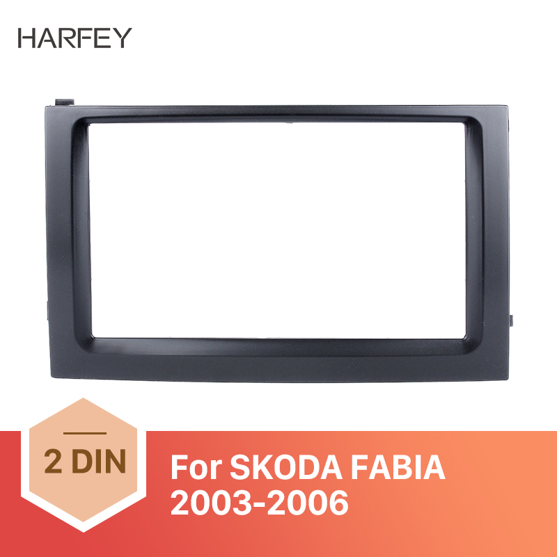 Harfey Fascia Car GPS Autoradio Stereo Panel Kit for 2003 2004 2005 <font><b>2006</b></font> <font><b>Skoda</b></font> <font><b>Fabia</b></font> 2DIN Dash DVD Player Frame Dash Bezel Kit image