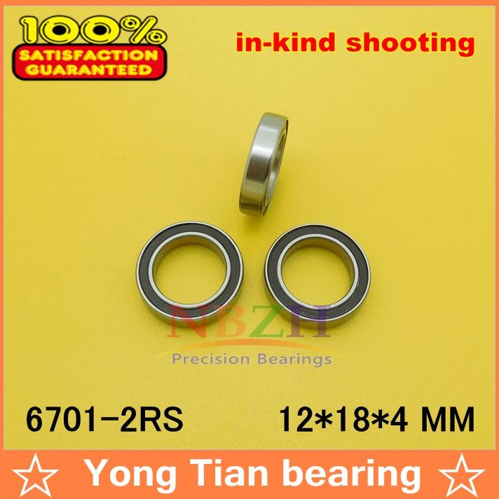 10pcs free shipping The high quality of ultra-thin deep groove ball bearing 6701-2RS 12*18*4 mm provide high performance model car bearing sets kyosho triumph of free shipping