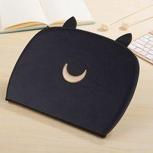 Pu Funda de piel Para iPad Aire 1 Tabletas de protección de la piel Gato de la manera caso Luna con despertador/Sleep Para el ipad de Aire 2 Cover + Regalos