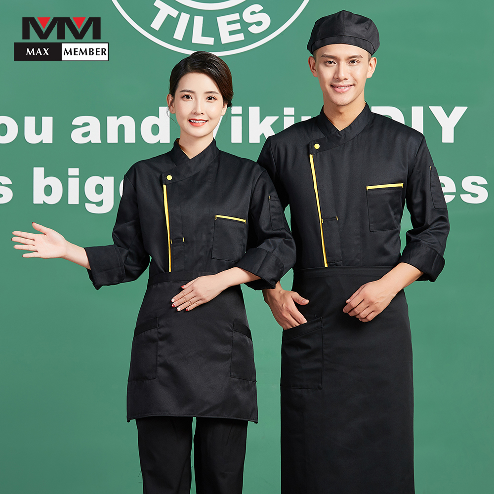 New Arrival Unisex Restaurant Long Sleeve Chef Jackets Catering Work Uniforms Cafe Bakery Waiter Coat Kitchen Cooking Overalls