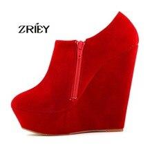 ฤดูใบไม้ร่วงฤดูหนาวสตรีE Legentแพลตฟอร์มรองเท้าส้นสูงหนังนิ่มรองเท้ารองเท้าข้อเท้าดจ์Botas Femininasขนาด35-42