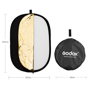 Image 3 - Портативный складной Круглый отражатель для фотостудии Godox 150x200 см 5 в 1 59x79 дюймов