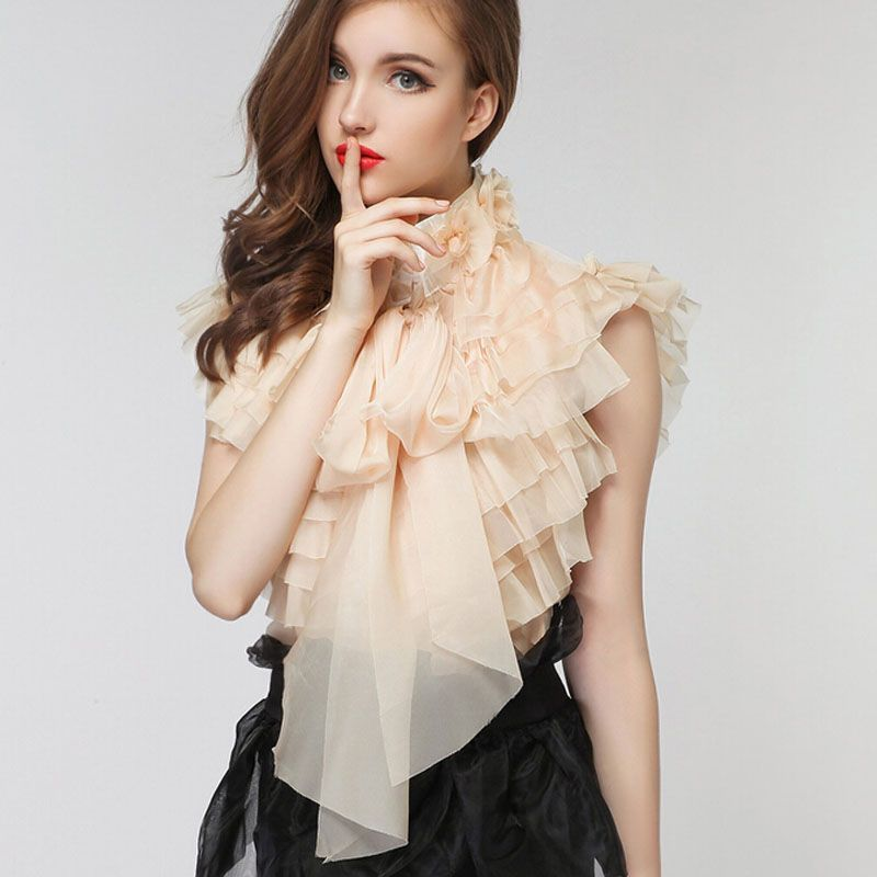 Popular Chiffon Ruffle Blouse-Buy Cheap Chiffon Ruffle Blouse lots ...