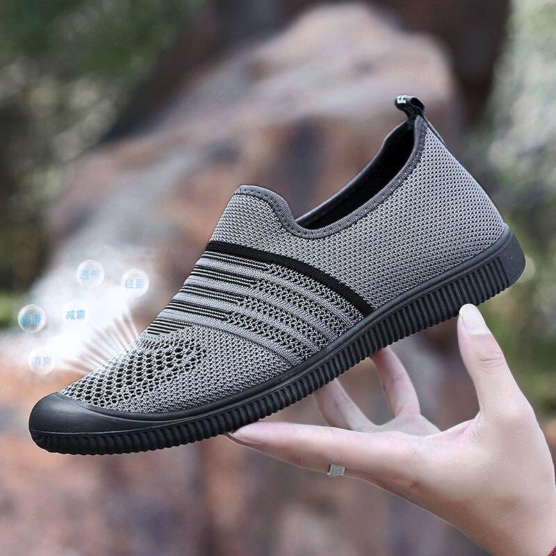 8802 Blue De 8803 Chaussures Hommes En Loisirs Plat Dehors 8803 Nouveau Sneakers Maille Britannique Misalwa Non Blue Black Été Doux Black slip Gray Respirant 8802 8803 Casual 2019 UFwn1qO