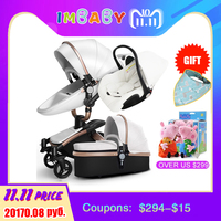 IMBABY Luxury Baby Stroller 3 in 1 Baby Bassinet Baby Pram With Car Seat Carriage Big Wheel For Snow For 0 36 Months Kids