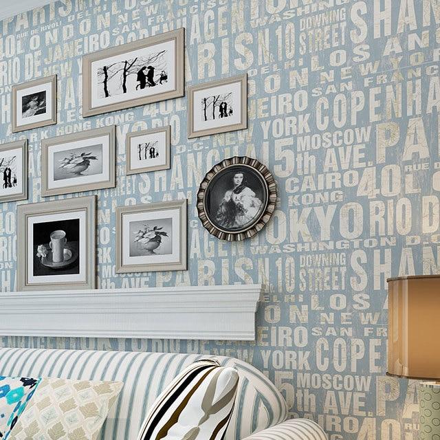 Beibehang papel de parede Eenvoudige Engels vliesbehang moderne ...
