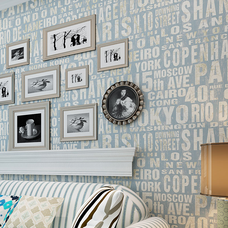 beibehang papel de parede Simple English non-woven wallpaper modern digital bedroom study living room 3D TV background wallpaper blue earth cosmic sky zenith living room ceiling murals 3d wallpaper the living room bedroom study paper 3d wallpaper
