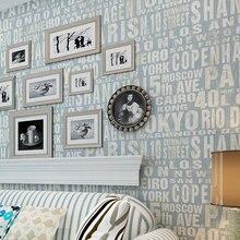 beibehang papel de parede Simple English non-woven wallpaper modern digital bedroom study