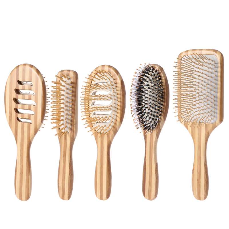New Profissional Natural Bamboo Hair Brush Hairbrush Comb Health Care Massager Anti-static SPA Massage Combs Make Up