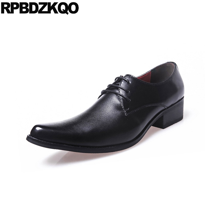 Business Oxfords Pointed Toe Men Dress Italian Leather Shoes Black European Work Male British Style Wedding Office Fashion choudory new winter men ankle italian shoes men leather shoes pointed toe mens black dress shoes sequined toe spiked loafers men